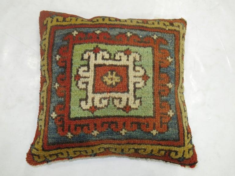 Adirondack  Bergama Rug Pillow For Sale