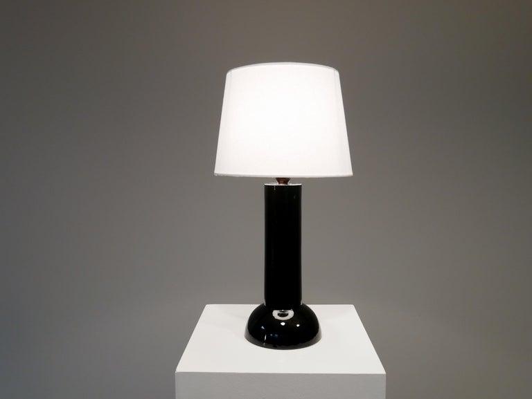 Bergbom table lamp in black ceramics, 1960s.