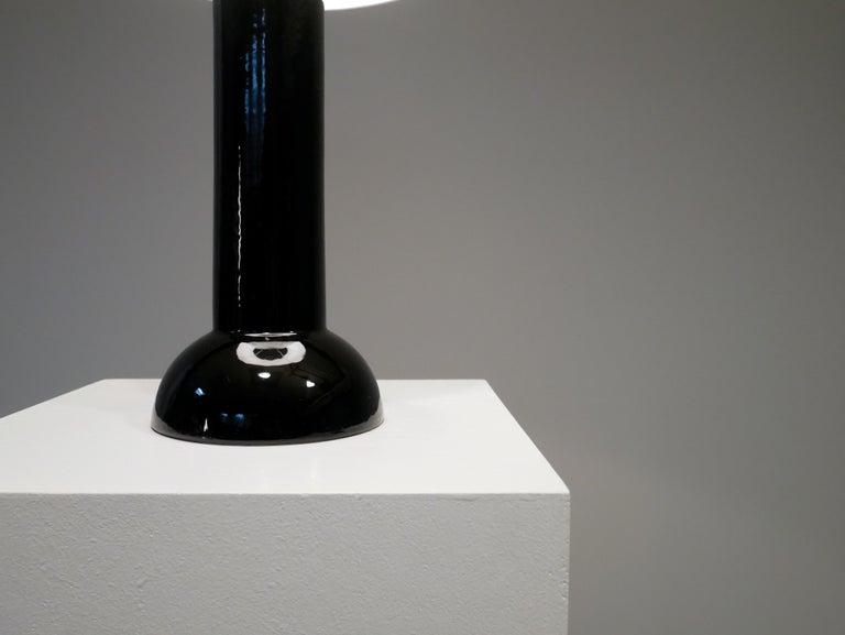 Scandinavian Modern Bergbom Table Lamp in Black Ceramics, 1960s For Sale