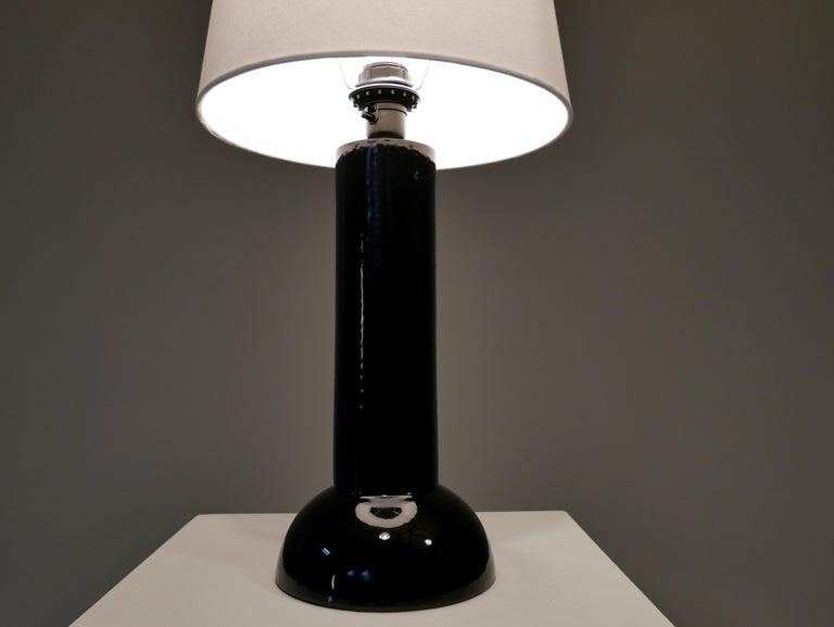 Bergbom Table Lamp in Black Ceramics, 1960s In Good Condition For Sale In Helsingborg, Skåne