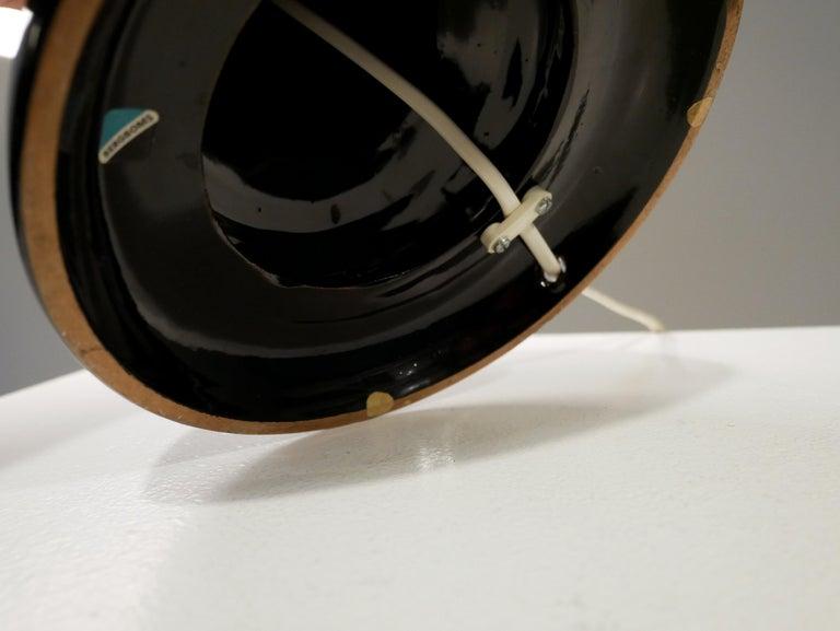 Mid-20th Century Bergbom Table Lamp in Black Ceramics, 1960s For Sale