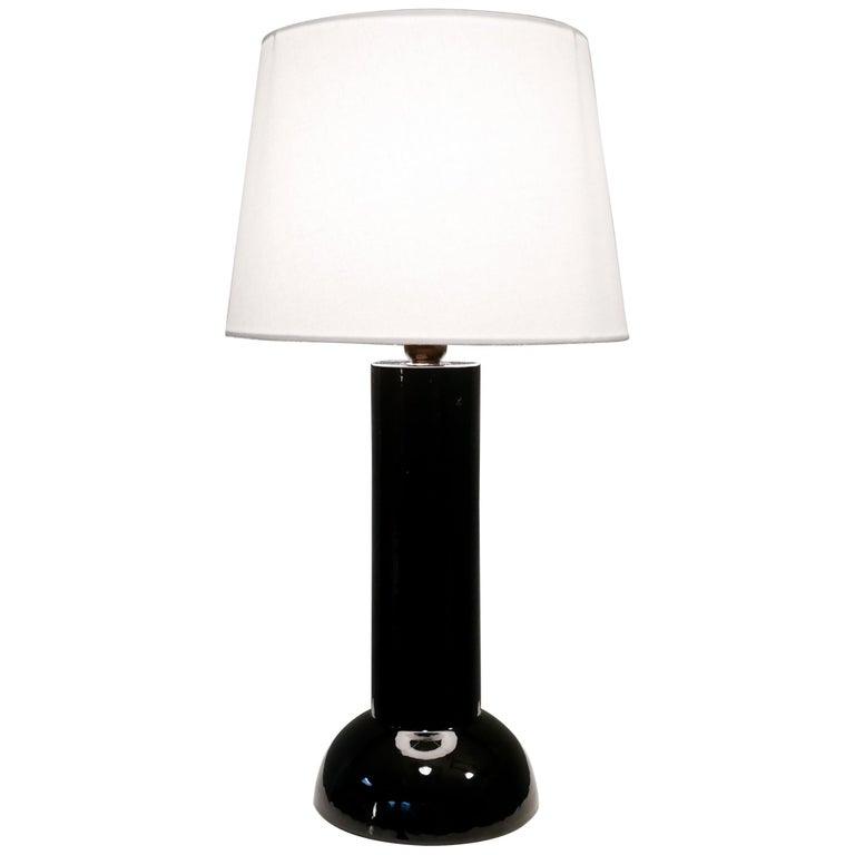 Bergbom Table Lamp in Black Ceramics, 1960s For Sale