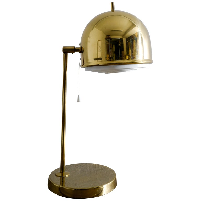 """Bergboms """"B-075"""" Table Lamp in Brass, Sweden, 1960s For Sale"""
