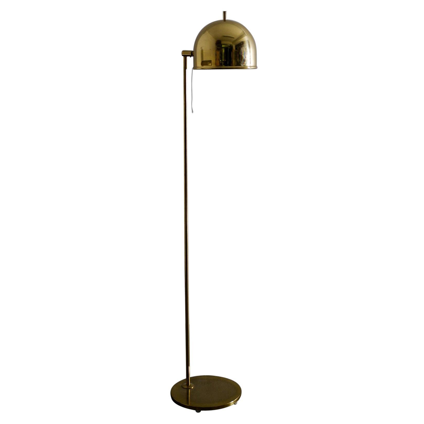 "Bergboms ""G-075"" Floor Lamp in Brass Produced in Sweden, 1960s"