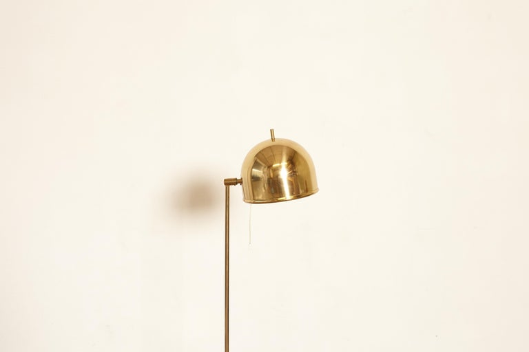 Scandinavian Modern Bergboms Model G-075 Brass Floor Lamp, Sweden, 1960s