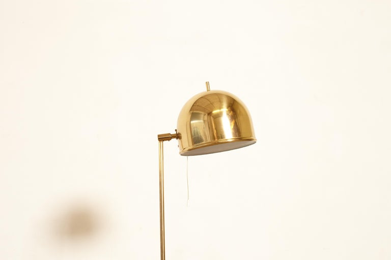 Bergboms Model G-075 Brass Floor Lamp, Sweden, 1960s In Good Condition In London, GB