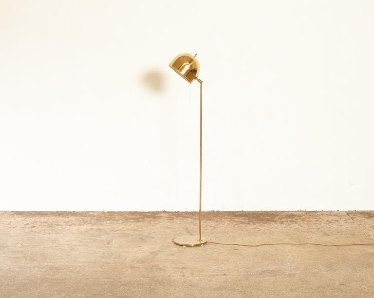 Mid-20th Century Bergboms Model G-075 Brass Floor Lamp, Sweden, 1960s