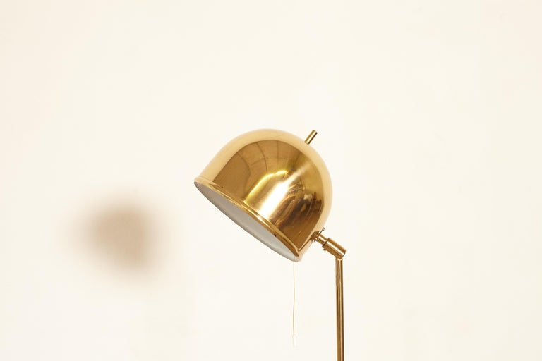 Bergboms Model G-075 Brass Floor Lamp, Sweden, 1960s 1