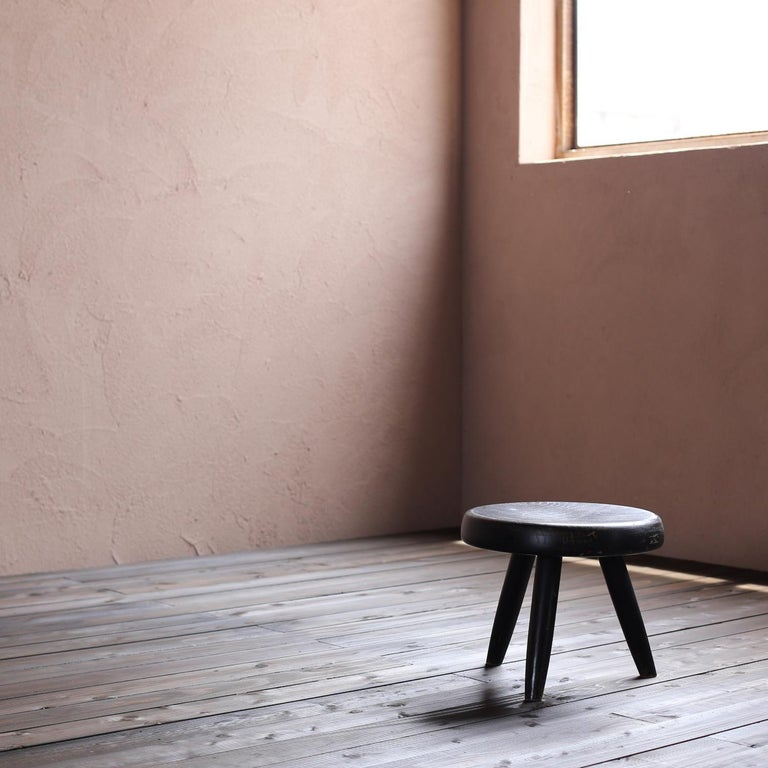 Mid-Century Modern Berger Stool by Charlotte Perriand