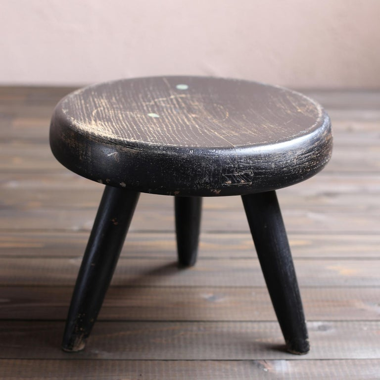 French Berger Stool by Charlotte Perriand