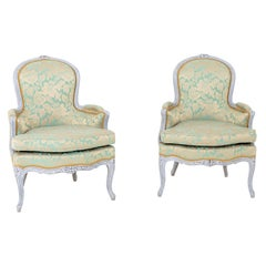Bergere Chairs, Louis XV Style, 19th Century
