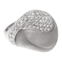 Bergio Diamond White Gold Cocktail Ring