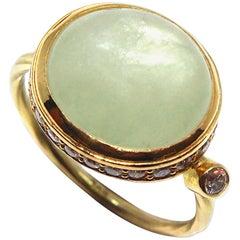 Bergsoe Beryl and Diamond Ring