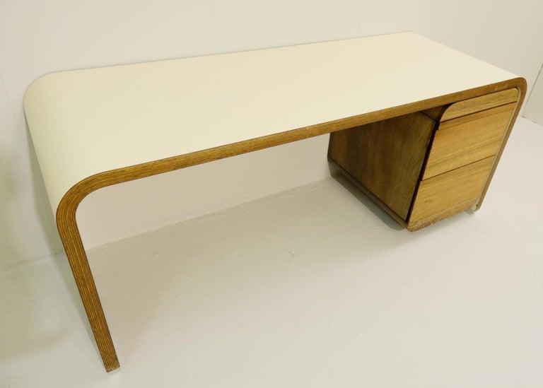 Wood Bergwood White Desk For Sale