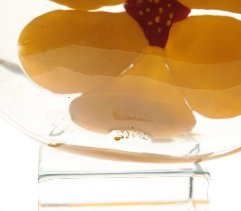 Berit Johansson for Pauly Murano Flask Monet's Giverny Nasturtium Beloved Flower For Sale 7