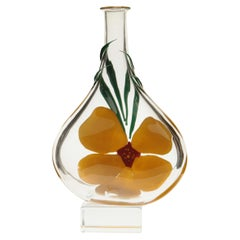 Berit Johansson for Pauly Murano Flask Monet's Giverny Nasturtium Beloved Flower