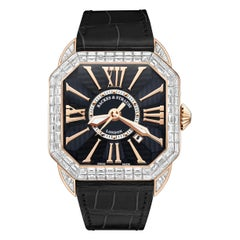 Berkeley Baguette 43 Luxury Diamond Watch for Men's Rose Gold