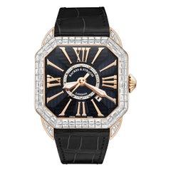 Berkeley Baguette 43 Luxury Diamond Watch for Men's Rose Gold