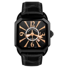 Berkeley Black Knight 43 Luxury Diamond Watch for Men, Black PVD Steel