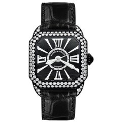 Berkeley Diamond Knight 29 Luxury Diamond Watch for Women, Black Steel