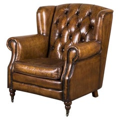 Berkeley Leather Vintage Style Armchair, 20th Century