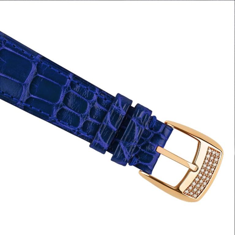 Round Cut Berkeley Renaissance 43 Luxury Diamond Watch for Men, 18 Karat Rose Gold For Sale