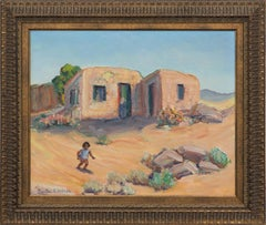 """Adobe Run""   Great West Texas or New Mexico Painting El Paso Artist"