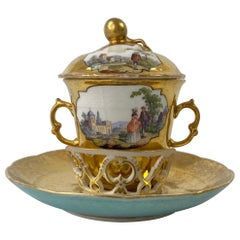 Berlin Chocolate Cup and Trembleuse, c. 1770