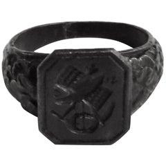 Berlin Iron Signet Ring