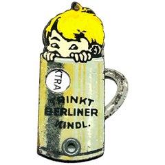Berlin Kindl Child Beer Advertising Pocket Cigar Cutter Antique, German, 1930s
