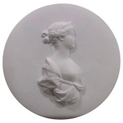 Berlin 'KPM' Bisque Plaque of Princess Luise, Later Queen of Prussia, 20thC.
