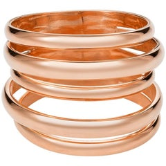 Berlin Ring, Rose Gold 5 Band Stack Ring