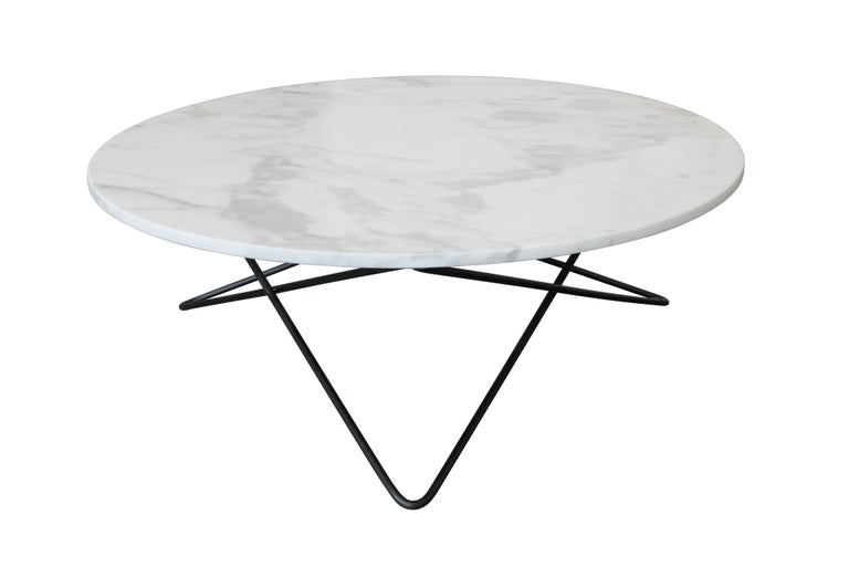 Modern Berlin Round Marble Cocktail Table For Sale