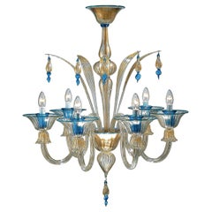 Berlioz Chandelier by Wave Murano Glass by Roberto Beltrami