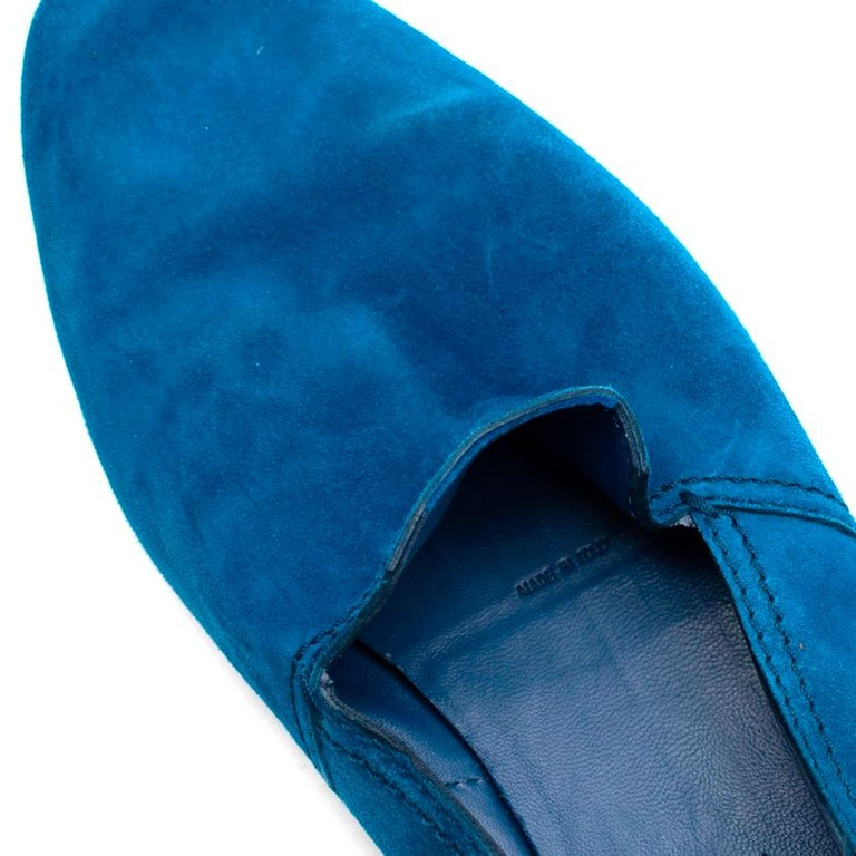 Berluti Blue Suede Loafers - Size 44 For Sale 4