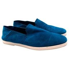 Berluti Blue Suede Loafers - Size EU 44
