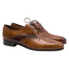 Berluti Brown Leather Derby Shoes SIZE 8
