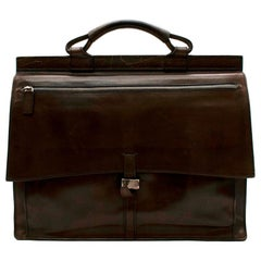 Berluti Brown Leather Men's Briefcase