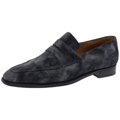 Berluti Dark Grey Suede Andy Penny Loafers Size 45