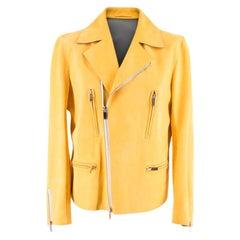 Berluti Kadn Yellow Biker Jacket L 52