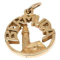 Bermuda Charm with Lighthouse in 14 Karat Yellow Gold