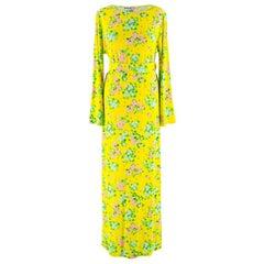Bernadette Yellow Monica Floral Print Maxi Dress