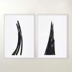 Arcs: Uneven Angles - Contemporary, 21st Century, Etching, Black, White, Edition