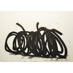 Four Indeterminate Lines - Contemporary, 21st Century, Etching, Black and White