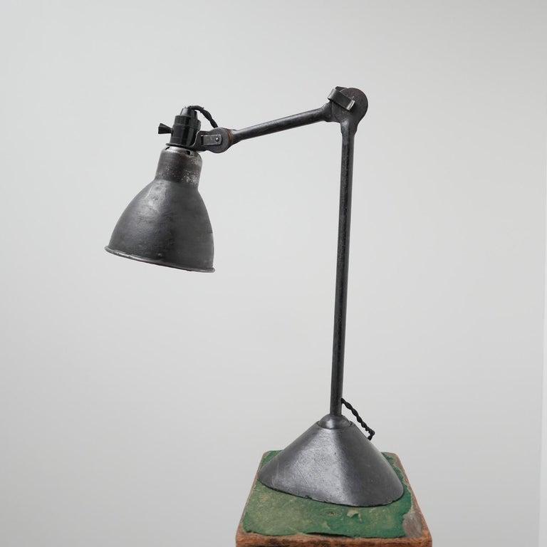 Bauhaus Bernard-Albin Gras Table Lamp Model 205 'Black'