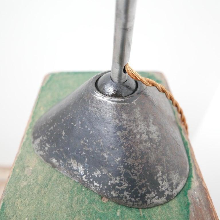 Metal Bernard-Albin Gras Table Lamp Model 205 'Silver'