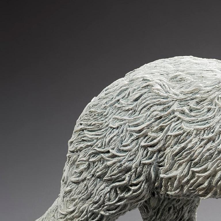 Polar Bear - Gold Figurative Sculpture by Bernard & Arnaud Bessoud