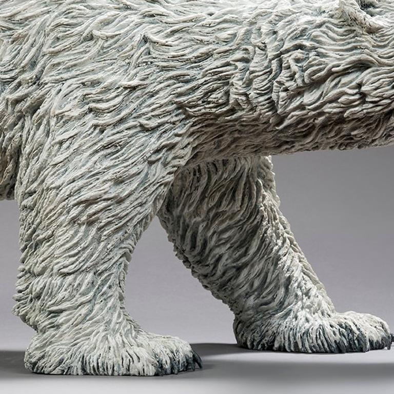 Bernard & Arnaud Bessoud  05/02/1947, 26/10/1971 French  Polar Bear, 2016 Bronze with white patina Chapon Foundry - Numbered 2/8  Signed on the back leg  Certificate by the Artist  Dimensions: 14 5/8