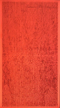 Tableau clou, 1969, red, nails, wood, Avantgarde, Group Zero, light, object