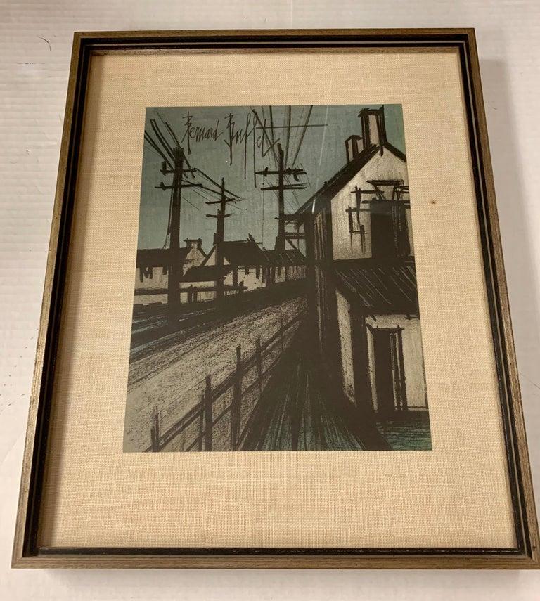 Rare Bernard Buffet first printing lithograph, circa early nineteen seventies in original frame.
